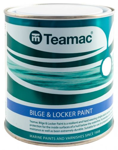 Teamac Bilge and Locker White Paint 1Ltr
